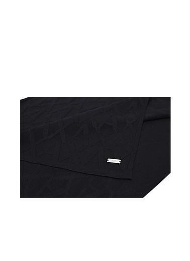Armani Exchange Armani Exchange 6Hz41K Zmz1Z 1200 Poliamid Viskoz Logo Baskılı Erkek Şal Siyah